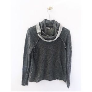 free people / beach one body mock cowl pullover